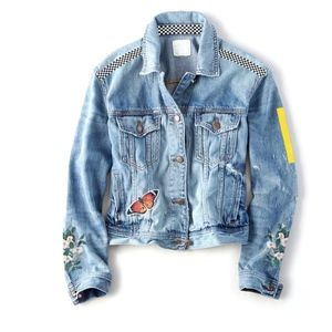 NEW Halsey Band Embroidered Denim Tour Jacket